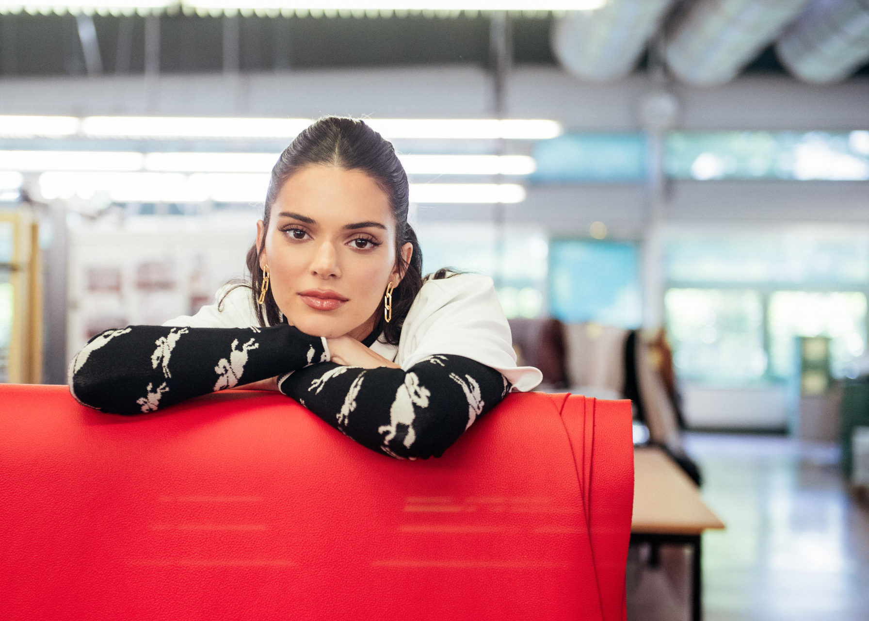 Kendall Jenner for Longchamp by Sarah Aubel